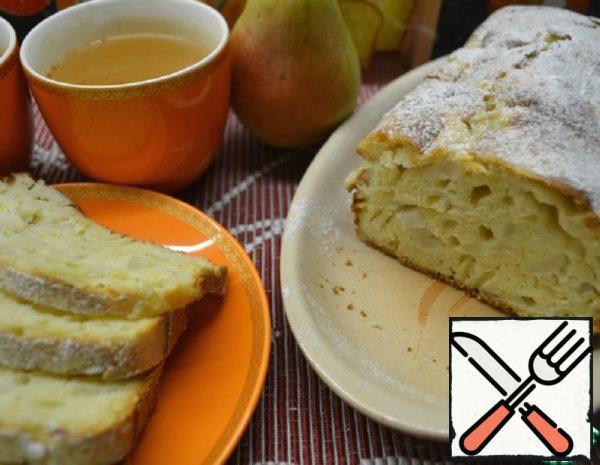 Saffron-Vanilla Cake with Pear Recipe