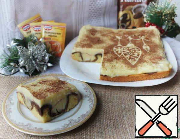 Cake with Apples and Pudding Recipe