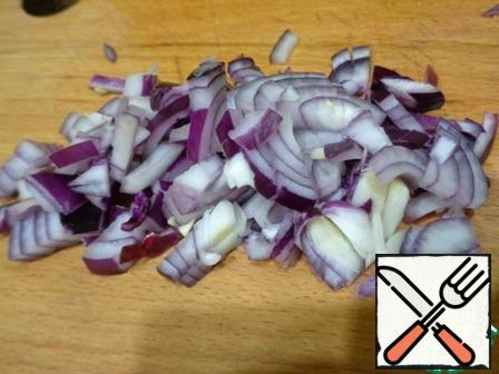 Red onion finely chopped.