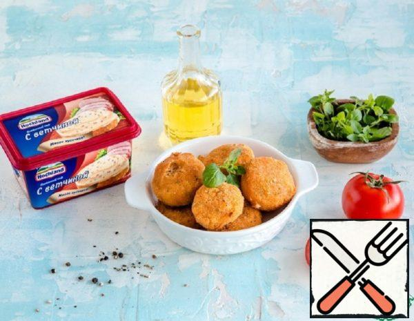 Croquettes of Cheese and Ham Recipe