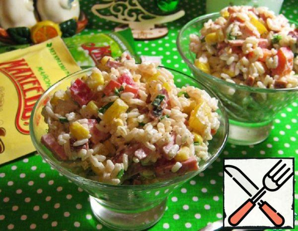 Rice Salad with Ham and Pepper Recipe