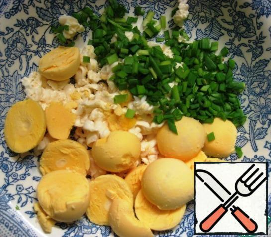 Add chopped green onions.