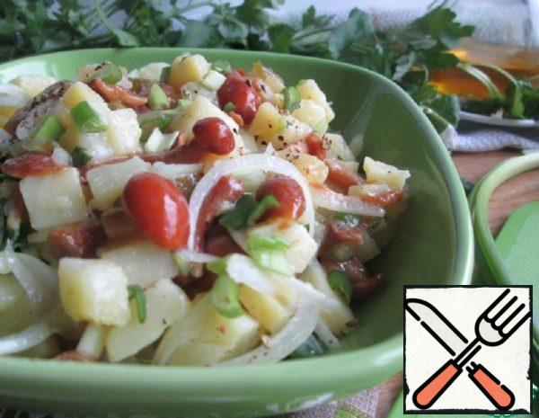 Salad of pickled Honey Agaric and Potatoes Recipe