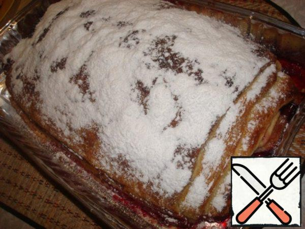 Cherry-Apple Strudel Recipe