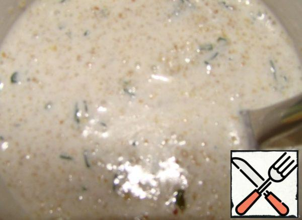 Do pouring...Melt the butter...Mix with breadcrumbs...green..and cream.