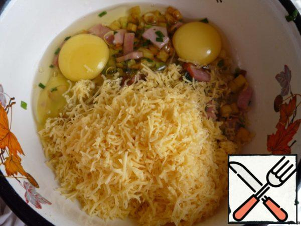 ... grated cheese on a small grater..