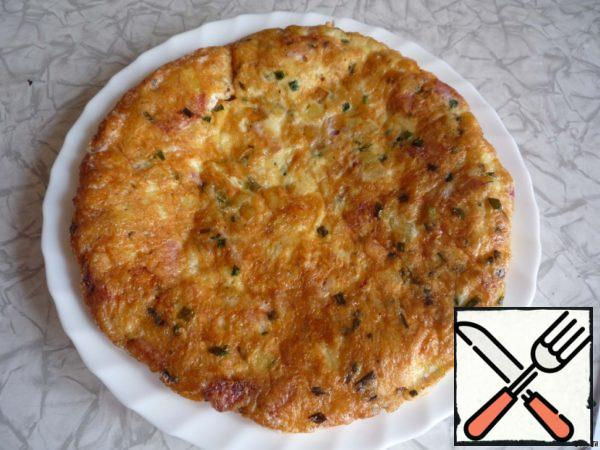 Tortilla with Potatoes and Ham Recipe