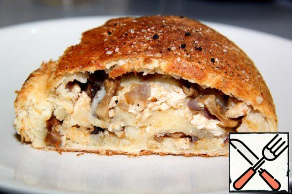 Strudel with Mushrooms and Chicken Recipe
