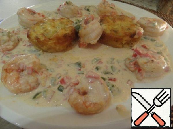Shrimp in Cream Sauce and Zucchini Gratin Recipe