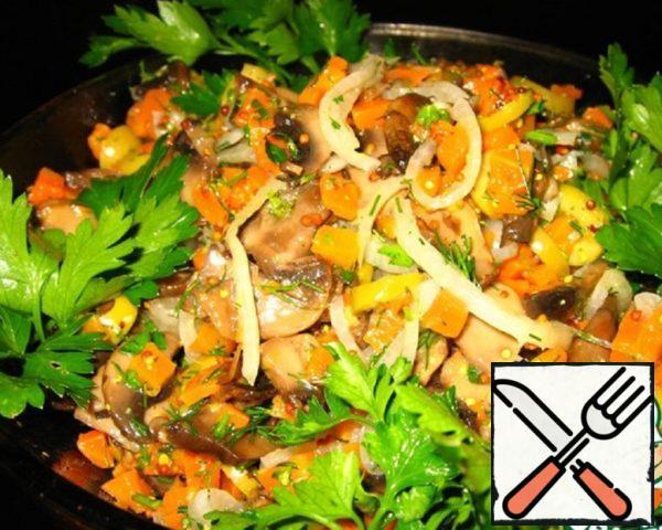 """Salad """"Mushroom soul"""" Recipe"""