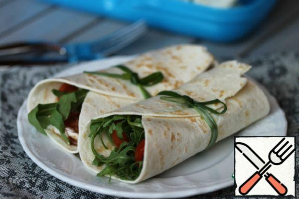 Tortilla with Arugula and Veal Tongue Recipe