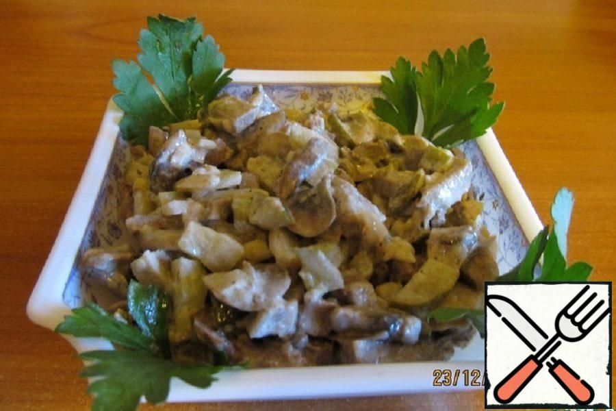 """Salad with Tongue """"Winter"""" Recipe"""
