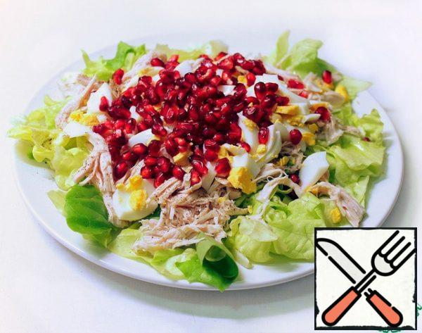 Finally, sprinkle with pomegranate seeds on top.