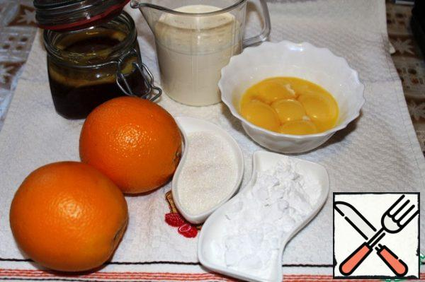 Products for the preparation of gratin-in the picture. Heat the oven to 210 degrees, let it be ready.