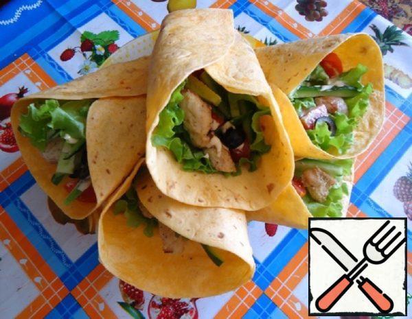 Tortilla or a Delicious Sandwich in a Mexican Tortilla Recipe