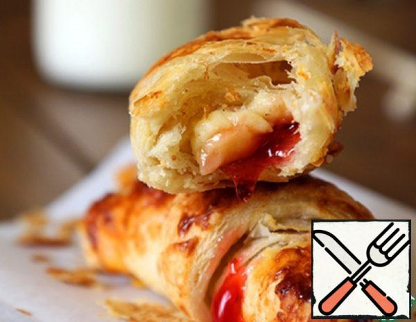 Croissants with Jam and Custard Recipe