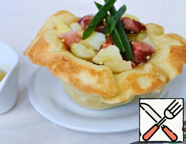 Warm Potato Salad in Tortilla Recipe