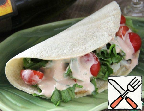 Tortillas with Fish and Salad Recipe