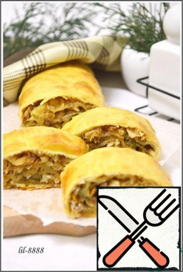 Strudel with Pickled Cabbage Recipe