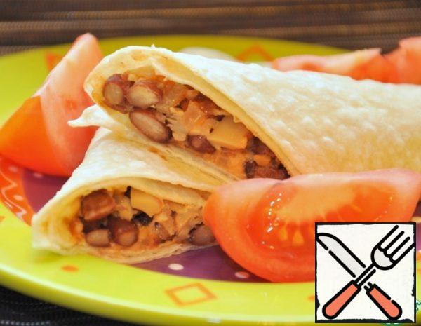 Tortillas with Beans and Mushrooms Recipe