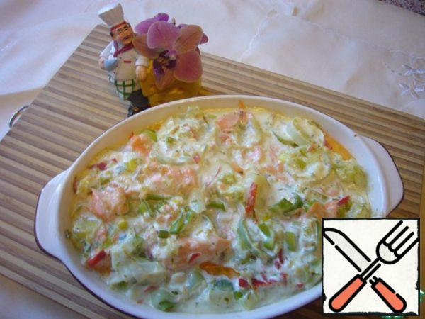 The Gratin of Trout and Leek Cream Recipe
