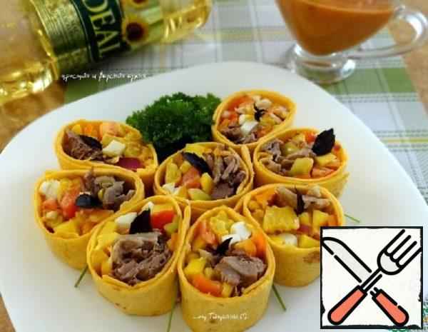 Snack of Tortilla with Duck Meat Recipe