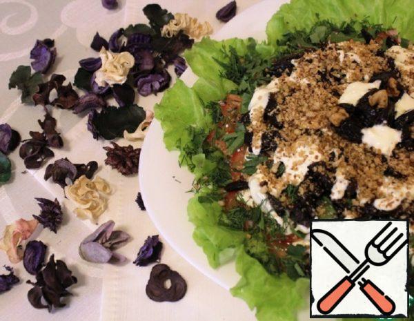 Salad with Ham and Prunes Recipe