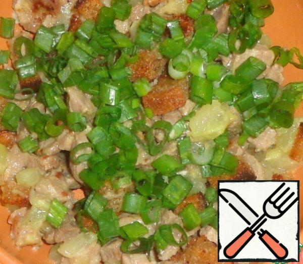 Add green onions.