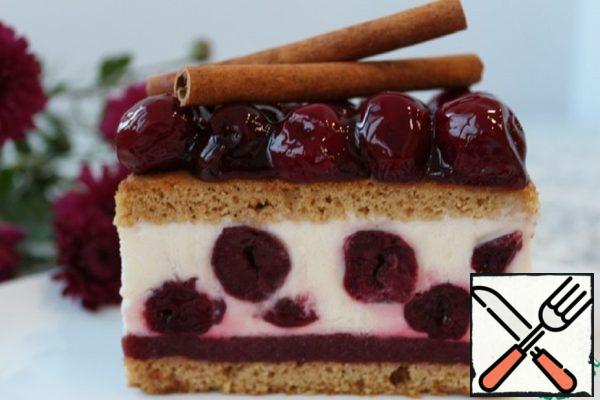 Honey Cakes with Parfait and Cherry Recipe