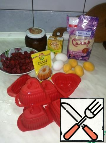 Here are all the ingredients we need for our cold dessert.