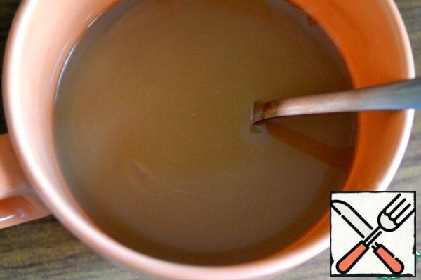 Boil coffee in milk, filter, cool.