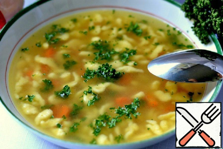"Soup on Chicken Broth ""For Adults"" Recipe"