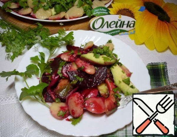 Salad with baked Beetroot and Avocado Recipe