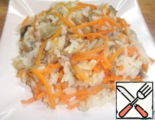 Rice Side Dish with Carrots in Korean Recipe