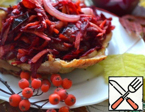 """Salad """"Gifts of Autumn in the Meat Dish"""" Recipe"""