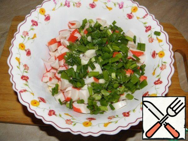Chop the green onions
