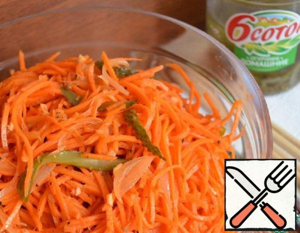 Korean Style Carrots with Pickles Recipe