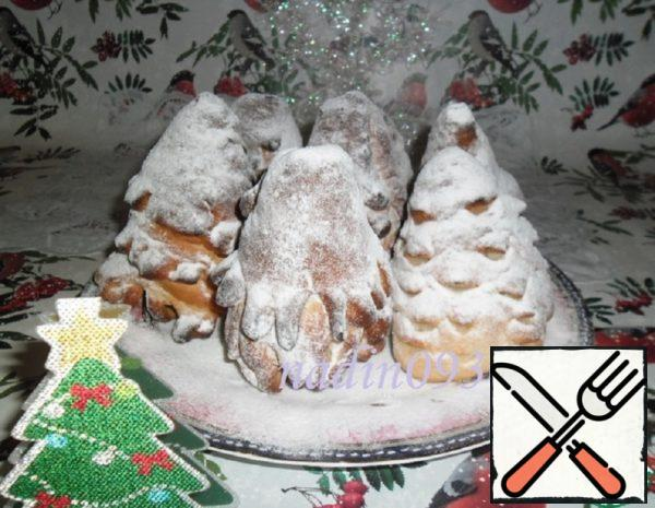 "Sponge Cake ""Christmas Tree"" with Marshmallows Recipe"