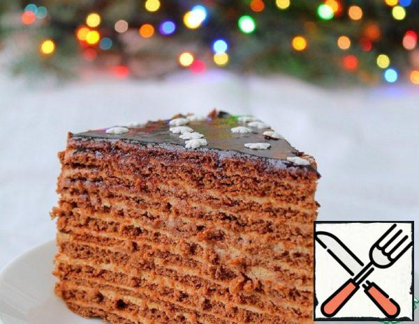 Honey Cake with Sour Cream Recipe