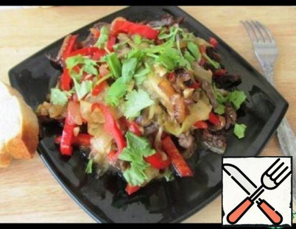 Warm Meat Salad Recipe