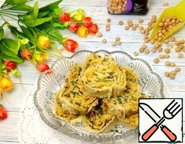 Pita Rolls with Chickpeas Recipe