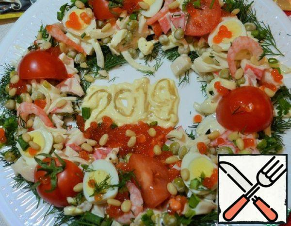 "Salad ""New Year Wreath"" Recipe"