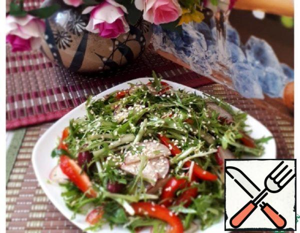 Salad with Beans and Pomegranate Dressing Recipe