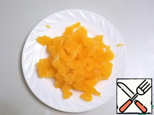 Tangerines peel and remove the membranes. Grind in a blender.