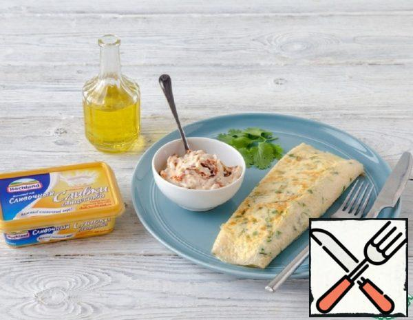 French Omelet stuffed with Cheese Recipe