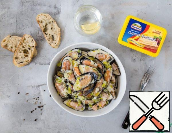 Mussels in Cheese Sauce Recipe