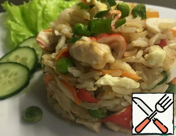 Fried Rice with Crab Sticks Recipe