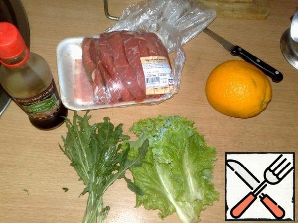 In fact, it's very simple, I ate a similar salad in an Italian restaurant. here are the ingredients: