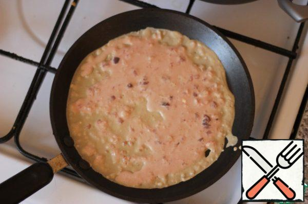In heated crepe maker (pan) and fry like pancakes...