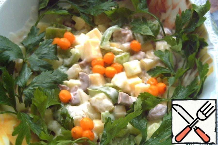 """Salad """"Tender heart"""" Recipe"""